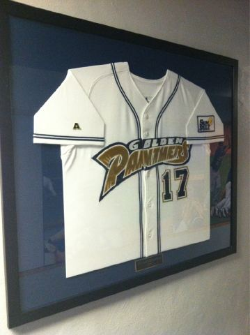jerseys on fiu baseball walls of fame fiu panthers prowl. Black Bedroom Furniture Sets. Home Design Ideas